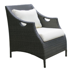 Su-zanne - Catalina OUTDOOR wicker club chair, Without Ottoman - Classical comfort all weather resin wicker club chair with gently curved arms and high back for leisure relaxing.
