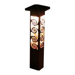 "Attraction Lights - Path Light- Decorative Steel -Swirl Design, 24"" - -Solid, 1/8"" high grade steel construction"