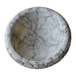 Antique Alabaster Bowl - Dimensions 8.5ʺW × 8.5ʺD × 2.5ʺH