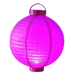 """Oriental-Decor - 12"""" Glowing Fuchsia Lantern - Blue is the color of tranquility, confidence and loyalty. It is a beautiful color to look at, which is why the sky and oceans are blue. The Chinese associate blue with immortality. This gorgeous blue glowing Asian lantern will make outstanding decoration in any setting. Just turn the switch on and watch it glow a radiant blue light that will fill the room with its soft rays. Each Asian lantern we sell glows magnificently, but each color conveys a different feeling. Blue is a great color for the outdoors and is also a calming color. Makes a great gift too."""