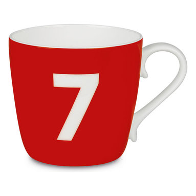 Konitz - Colors Mug Number - Strawberry - What's your number? Flaunt it on an attractive bone china coffee mug, and you'll get those good luck vibes going with every sip.