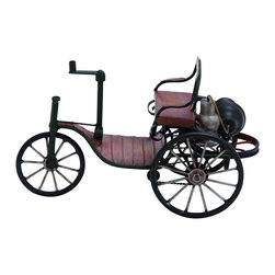 Benzara - Vintage Turn of The Century Tricycle Carriage decor - A decoration that allows all who see it to take a nostalgic trip back into the turn of the century. This magnificent decor is built as a tricycle carriage straight from 1900. The perfect gift for anyone who enjoys vintage style decor for their home, or for the bicycle or motor car enthusiast. Great as a paperweight in the home office.
