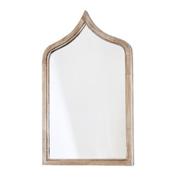 Kathy Kuo Home - Putrajaya Global Bazaar Silver Frame Wall Mirror - Short - Exotic and elegant, this slightly distressed, silver-framed wall mirror reflects an adventurous spirit. The slim silhouette enlarges even the narrowest space. Evoking ancient architecture, this impressive piece adds Old World charm your palace.