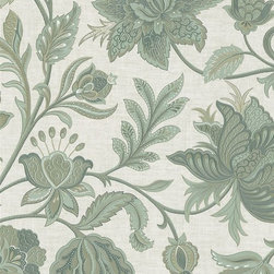 Silken Classics Floral Damask Wallpaper by Brewster - Pattern number: 988-58623