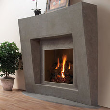 Contemporary Indoor Fireplaces by MantelsDirect.com