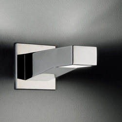 Leucos - Leucos | Alias Wall Light - Design by Works Studio, 2005.Wall light for direct and indirect illumination. Polished chrome finish.fixture includes back plate to cover standard junction box.