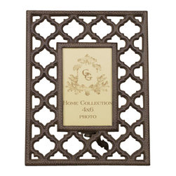 "Gracious Goods GG - GG Collection Ogee-G Small Metal Picture Frame - The rich look of burnished metal will surround your special photo when framed in our contemporary frame by the GG Collection.Whether you display it as your tabletop accessory, dining room centerpiece or bedroom chest, this frame will surely enhance any part of your home! This elegant photo frame is the perfect wedding or anniversary gift to help retain the memories of a special event long after the moment has passed.    * Dimensions: W: 9"" H: 11.25""  * Holds a 4 x 6 photo"