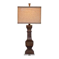 Bassett Mirror - Bassett Mirror Walden Table Lamp L2549TEC - Bassett Mirror Walden Table Lamp L2549TEC