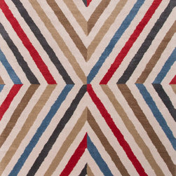 Jaipur Rugs - Hand-Tufted Geometric Pattern Wool Red/Orange Area Rug ( 8x11 ) - En Casa is the design collection of Cuban born, Queens, NY raised painter and surface designer, Luli Sanchez. This collection is based off of her painterly works of art that capture an organic and moody yet optimistic spirit. Her hand drawn florals and geometrics were truly inspiring for this Hand Tufted collection.