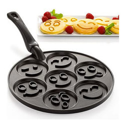 Nordicware Pancake Pan, Smiley Faces - You're eating pancakes. What's there not to smile about?