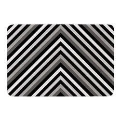 """KESS InHouse - Trebam Uspon Gray/Black Memory Foam Bath Mat - These super absorbent bath mats will add comfort and style to your bathroom. These memory foam mats will feel like you are in a spa every time you step out of the shower. Available in two sizes, 17"""" x 24"""" and 24"""" x 36"""", with a .5"""" thickness and non skid backing, these will fit every style of bathroom. Add comfort like never before in front of your vanity, sink, bathtub, shower or even laundry room. Machine wash cold, gentle cycle, tumble dry low or lay flat to dry. Printed on single side."""