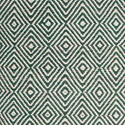 Hook & Loom Rug Company - Ashford Green Natural Rug, Green/Natural, 2'x3' - Very eco-friendly rug, hand-woven with yarns spun from 100% recycled fiber.  Color comes from the original textiles, so no dyes are used in the making of this rug.  Made in India.