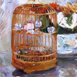 "Berthe Morisot The Cage - 18"" x 24"" Premium Archival Print - 18"" x 24"" Berthe Morisot The Cage premium archival print reproduced to meet museum quality standards. Our museum quality archival prints are produced using high-precision print technology for a more accurate reproduction printed on high quality, heavyweight matte presentation paper with fade-resistant, archival inks. Our progressive business model allows us to offer works of art to you at the best wholesale pricing, significantly less than art gallery prices, affordable to all. This line of artwork is produced with extra white border space (if you choose to have it framed, for your framer to work with to frame properly or utilize a larger mat and/or frame).  We present a comprehensive collection of exceptional art reproductions byBerthe Morisot."