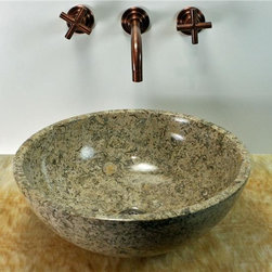 SoLuna - SoLuna Oceanic Fossil Round Vessel - Oceanic Fossil - Oynx Sink Basin. This beautiful sink contains fossil imprints of seashells, and other natural elements that are hundreds of years old. This type of stone is very rare.    Contact our staff to assist you on choosing the right onyx sink that meets your needs, as no two are alike. We will send you a confirmation with a photograph of your sink before shipping. These vessels weigh approximately 25 lbs. Drains available.