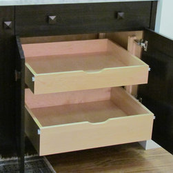 Roll Out Trays - Roll out trays for the interior of base cabinets.