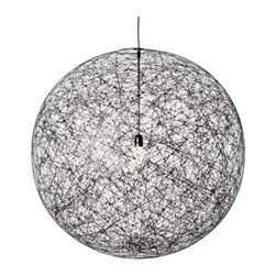 """Moooi - Moooi Random Suspension lamp - The Random Suspension lamp has been designed by Bertjan Pot and made by Moooi. The Random Suspension lamp The production process is a special story by itself: a resin drained yarn is randomly coiled around an inflatable beach ball creating a translucent 3D fabric. The beach ball is then deflated and extracted from a round opening in the lamp. At the end the skin becomes the product. Soft and magic.         Product Details: The Random Suspension lamp has been designed by Bertjan Pot and made by Moooi.  The Random Suspension lamp The production process is a special story by itself: a resin drained yarn is randomly coiled around an inflatable beach ball creating a translucent 3D fabric. The beach ball is then deflated and extracted from a round opening in the lamp. At the end the skin becomes the product. Soft and magic. Details:                         Manufacturer:            Moooi                            Designer:            Bertjan Pot                            Made in:            Amsterdam                            Dimensions:            Small: diameter 50 cm 