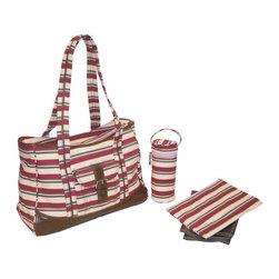 Kalencom - Weekender Diaper Bag in Chameleon Stripes Pink - Weekender Diaper Bag in Chameleon Stripes Pink