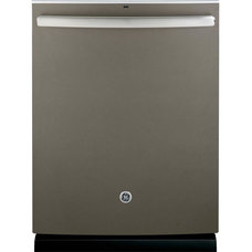 GE Top Control Dishwasher in Slate with Stainless Steel Tub and Steam Prewash-GD