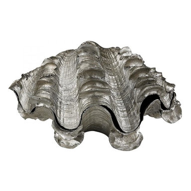 Sterling Industries - Shell Statuary, Silver Leaf Finish - Shell Statuary, Silver Leaf Finish