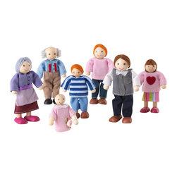 KidKraft - Doll Family Of 7 - Caucasian by Kidkraft - This adorable Doll Family makes a perfect gift for any young girl who enjoys playing with dollhouses. The family is made up of a mom, a dad, a son, a daughter, a baby and two grandparents.