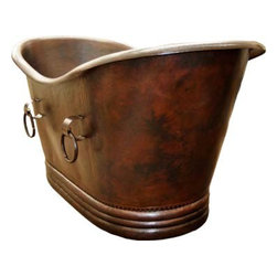 Copper Bathtubs - Hammered Copper Slipper Bathtubs are handmade individually one by one by Artisans taught by their ancestors.
