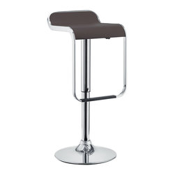 Modway - Modway EEI-169 LEM Bar Stool in Brown - The LEM Style Bar Stool has sleek lines that would be equally impressive in a restaurant or at home. Perfect for entertaining guests at restaurants, your home bar,  or for stylish seating around the kitchen counter.