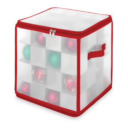 Whitmor - Whitmor Christmas Zippered Ornament Organizer - Keep your special ornaments in perfect condition year after year in this holiday Ornament Storage Chest.  These boxes will soon be as much a part of your holiday tradition as the special collectibles they contain.