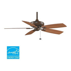 "Fanimation - Fanimation Edgewood Decorative 52"" 5 Blade Energy Star Ceiling Fan - Blades Incl - Included Components:"