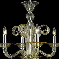 Elegant Lighting - Elegant Lighting 7864D22YW/RC Muse 4 Light Chandeliers in Yellow - 7864 Muse Collection Hanging Fixture D22in H23in Lt:4 Yellow Finish (Royal Cut Golden Shadow Crystals)