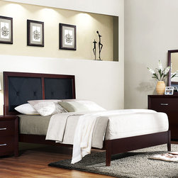 Tribecca Home - Tribecca Home Jenkins Queen Bed - Customize your bedroom in style with this Jenkins queen size bed frame. The headboard on this piece is dressed with a cushioned surface and is offered with button tufts styling for a uniquely attractive bed.