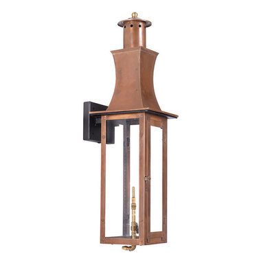 ELK - Elk Lighting Artistic 7909-WP Outdoor Gas Wall Lantern Maryville - Outdoor Gas Wall Lantern Maryville Collection In Solid Brass With An Aged Copper Finish