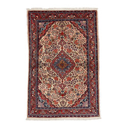 Darya Rugs - Darya Persian Rug, Red - This is an authentic Persian rug, and it represents some of the finest and best looking rugs produced in Iran.  All of these Persian rugs have been imported pre-embargo and are 100% authentic to the native territory in which they were weaved.