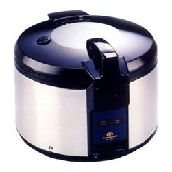 SPT - 26 Cup Stainless Steel Rice Cooker - Features: -Super large 26 cups capacity.-Keeps warm for up to 12 hours.-Heavy duty stainless steel body.-NSF certified.-Capacity: 26 Cup.-Accessories included (measuring cup and rice scooper).-Super large capacity rice cooker, ideal for restaurant use. Features auto-warm and heavy duty stainless steel body..-Distressed: No.Specifications: -Input voltage: 120V/60Hz.Dimensions: -17.75'' H x 17'' W x 16.75'' D, 20 lbs.-Overall Product Weight: 20lbs.