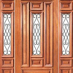 "Prehung Mahogany Insulated Center Lite Exterior Door Two Sidelites - SKU#XR-231-1-2BrandAAWDoor TypeExteriorManufacturer CollectionExpo Iron Exterior DoorsDoor ModelDoor MaterialWoodWoodgrainMahoganyVeneerPrice1978Door Size Options[36""+2(12"") x 80""] (5'-0"" x 6'-8"")  $0Core TypeSolidDoor StyleDoor Lite StyleCenter LiteDoor Panel StyleRaised Moulding , Floating Panel , 6 PanelHome Style MatchingLog , Prairie , Ranch , MediterraneanDoor ConstructionEngineered Stiles and RailsPrehanging OptionsPrehungPrehung ConfigurationDoor with Two SidelitesDoor Thickness (Inches)1.75Glass Thickness (Inches)Glass TypeDouble GlazedGlass CamingGlass FeaturesInsulated , TemperedGlass StyleClear , Glue Chip , SandblastGlass TextureClear , Glue Chip , SandblastGlass ObscurityDoor FeaturesDoor ApprovalsFSCDoor FinishesDoor AccessoriesWeight (lbs)850Crating Size25"" (w)x 108"" (l)x 52"" (h)Lead TimeSlab Doors: 7 daysPrehung:14 daysPrefinished, PreHung:21 daysWarranty1 Year Limited Manufacturer WarrantyHere you can download warranty PDF document."