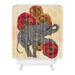DENY Designs - Valentina Ramos Rosebud Shower Curtain - Who says bathrooms can't be fun? To get the most bang for your buck, start with an artistic, inventive shower curtain. We've got endless options that will really make your bathroom pop. Heck, your guests may start spending a little extra time in there because of it!