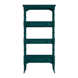Stanley Furniture - Coastal Living Retreat-Etagere - Here's a piece that makes the room. From its unusual box-on-box shelf construction to its triple-ring post motif, this etagere provides eye-catching, beach house charm.