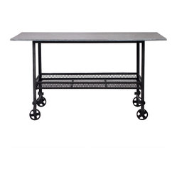 Madison Industrial Style Rolling Table