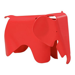 """Zuo - Zuo Phante Red Kids Chair - The Phante Collection has an adorable seat that has been designed to look like a young elephant. Everything from trunk to tail is includes in this red kids chair. Constructed with children's play in mind it's made of durable scratch-free polypropylene. Design by Zuo Modern. Scratch-free polypropylene construction. Red finish. Whimsical elephant design. No assembly required. 16 1/2"""" high. 15 1/2"""" wide. 25 1/2"""" deep.  Scratch-free polypropylene construction.  Red finish.  Whimsical elephant design.  No assembly required.  16 1/2"""" high.  15 1/2"""" wide.  25 1/2"""" deep."""