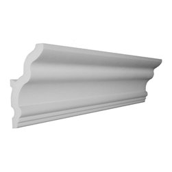 """CCM - 56' - 4.5"""" Style 5 Vaulted Foam Crown Molding W/ Precut Corners - THIS IS A KIT - 56 feet of crown molding. 95.5"""" lengths."""