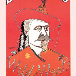 Buyenlarge - Portrait of Buffalo Bill 12x18 Giclee on canvas - Series: Buffalo Bill - Wild West
