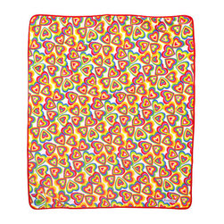 Plushalicious Fleece Blanket - Super soft, super cozy! I love that this features hearts of all different colors.