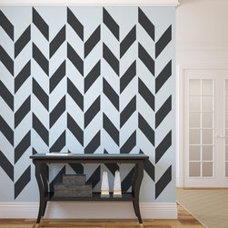 WallStar Graphics - WallStar Graphics Broken Chevron Wall Pattern -