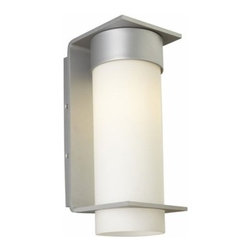 LBL Lighting - LBL Lighting | Palm Lane Large Outdoor Wall Light - By LBL.The Palm Lane Large Outdoor Wall Sconce from LBL features a clean lined metal base with an opal glass cylinder. This modern outdoor wall luminaire is offered with incandescent or compact fluorescent lamping in 120V or 277V. The Palm Lane collection is perfect for providing ambient diffused light and a modern decorative touch in both residential and commercial outdoor settings. Offered in silver, bronze, or black finish. Suitable for wet locations.Shown in bronze finish.