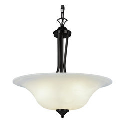 Trans Globe Lighting - 9284 ROB 3 Light Down Lighting Bowl PendantContemporary Collection - Requires 3 100w Medium Base Bulbs (Not Included)