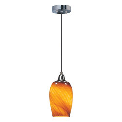 ET2 - ET2 Hue Modern / Contemporary Pendant Light X-41-20202E - Variety is indeed the spice of life. Nothing proves that more than the amazing Hue collection of hand-blown, colored accent, single light pendants. Readily available in a wide variety of colors and shapes, these pendants reveal its color when the light is on. Each glass shade is covered with impressed glass veins that accent the surface and Satin Nickel hardware. Consider mixing and matching an array of shapes and hues for a lighting solution that will be limited only by the heights to which your imagination can soar.