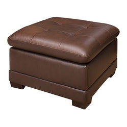 Abbyson Living - Porter Leather Ottoman by Abbyson Living - Porter Leather Ottoman by Abbyson Living     Enjoy this quality Abbyson Living furniture piece for years to come! Abbyson Living carries nothing less than innovative and stylish home furnishing products. Their Collections offer unique craftsmanship that transforms your home into a destination.