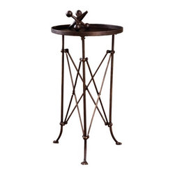 Metal Round Table - Classic and traditional, this little side table is a wonderful choice for those small spaces. It's perfect for a drink or book, and it looks more expensive than it really is.