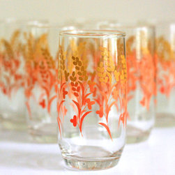 Vintage Autumn Branch Glasses by Wise Apple - Toast the beauty of fall with this sweet set of six vintage flower glasses in rich, seasonal colors. They'd look great displayed in your kitchen or dining room too.