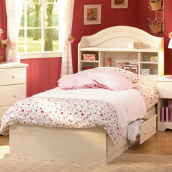 "South Shore - Summer Breeze White Wash Mates Bed - Make the most of your available space with this practical Kids mate's bed. It features three drawers underneath the bed for storing clothing, toys and other items. Attaches to the headboard to make a complete bed. No bedspring required. Features: -Engineered wood construction. -Wooden knobs. -Three drawers. -Assembly required. -ISTA 3A certified. -EPP certified. -Manufacture provides 5 year warranty. -Interior drawer dimensions: 22.5"" W x 17.75"" D."