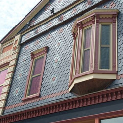 London Clay and Art Centre - New efficient vinyl windows blend in perfectly with this century old facade